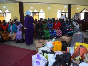 On a relief visit to some displaced persons at their host church in Lagos