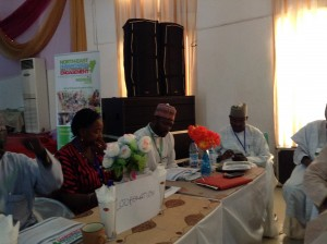 The Executive Director sitting among the PINE representatives and a member of the House of Representative  House Committee for IDPs