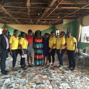 Winihin Jemide Series representatives and Chigul with Mend A LIfe Foundation's Mrs Mouka and Sesor representatives