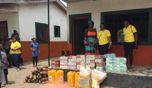 Items donated by Winihin Jemide Series for the children