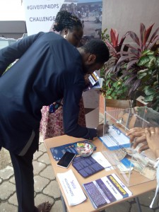 One of the donors at ICF signing up for our newsletter